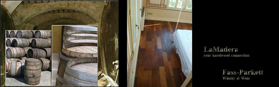 Wine barrel flooring
